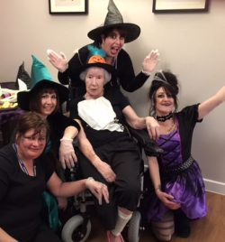 tenants joining in with the fancy dress!